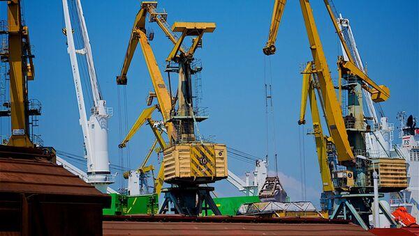 Портовые краны в Потийском порту - Sputnik Грузия