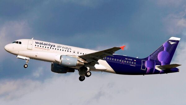 Самолет авиакомпании Kuwait Wataniya Airways  - Sputnik Грузия