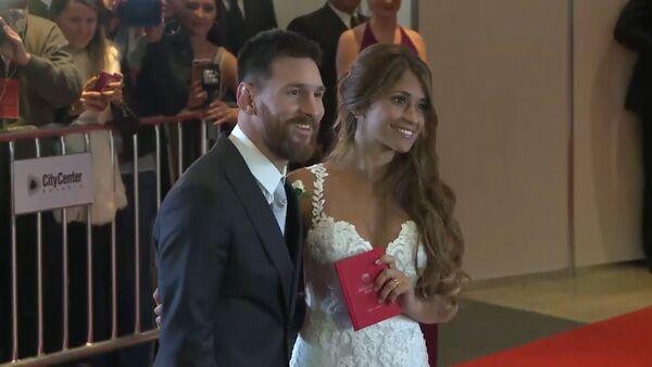 ლიონელ მესი ანტონელა როკუცოსთან ერთად ქორწილის დღეს - Sputnik საქართველო