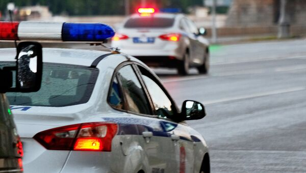 Автомобили полиции на улице Москвы - Sputnik Грузия