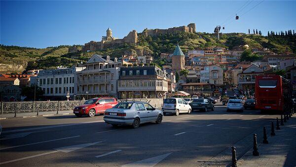 Вид на исторический центр столицы Грузии - Нарикала, Мейдан и район Калаубани - Sputnik Грузия