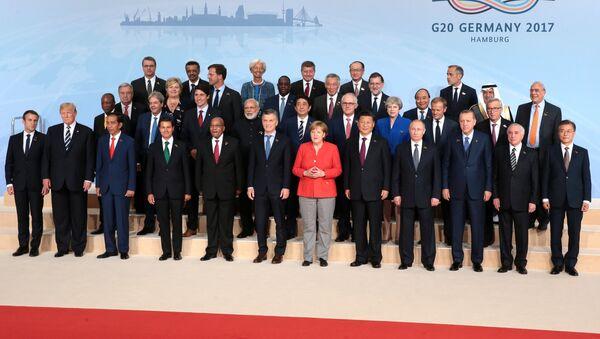 Совместная фотография глав делегаций государств-участников Группы двадцати G20 - Sputnik Грузия