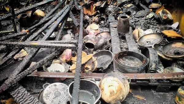 Последствия пожара на вещевом рынке в Поти - Sputnik Грузия