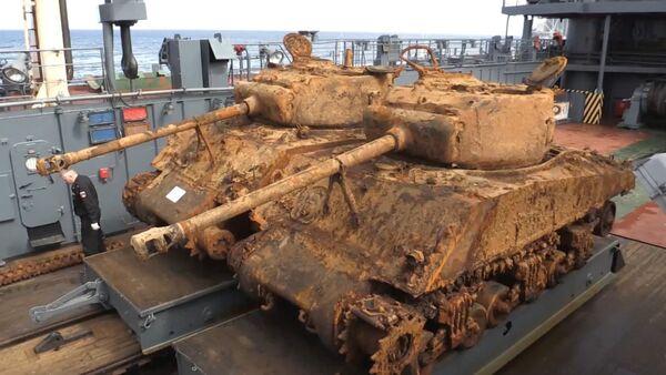 Американские танки времен Второй мировой подняли со дна Баренцева моря - Sputnik Грузия