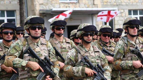 Грузинские военные перед отправкой в Афганистан - Sputnik Грузия