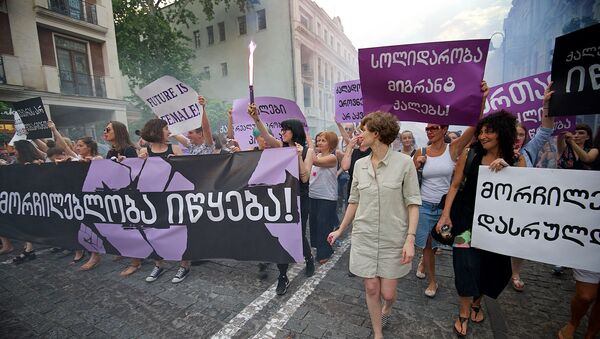 ქალთა სოლიდარობის მარში თბილისში - Sputnik საქართველო