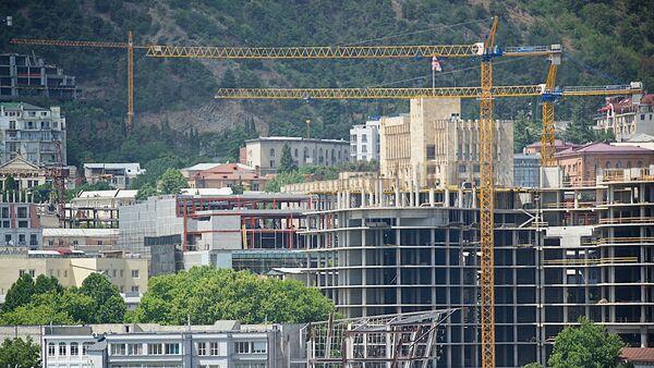 Строительство здания в рамках проекта Панорама Тбилиси - Sputnik Грузия