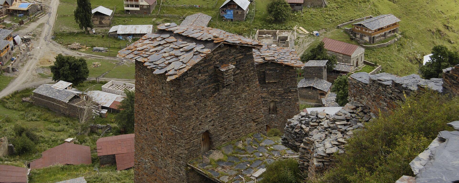 Село Омало в регионе Тушети - Sputnik Грузия, 1920, 27.05.2021