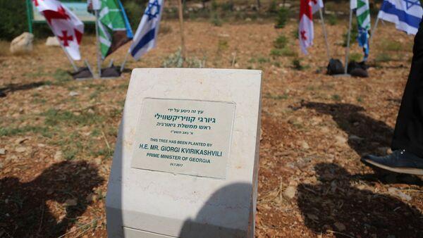 Памятная табличка с именем Георгия Квирикашвили в Израиле - Sputnik Грузия