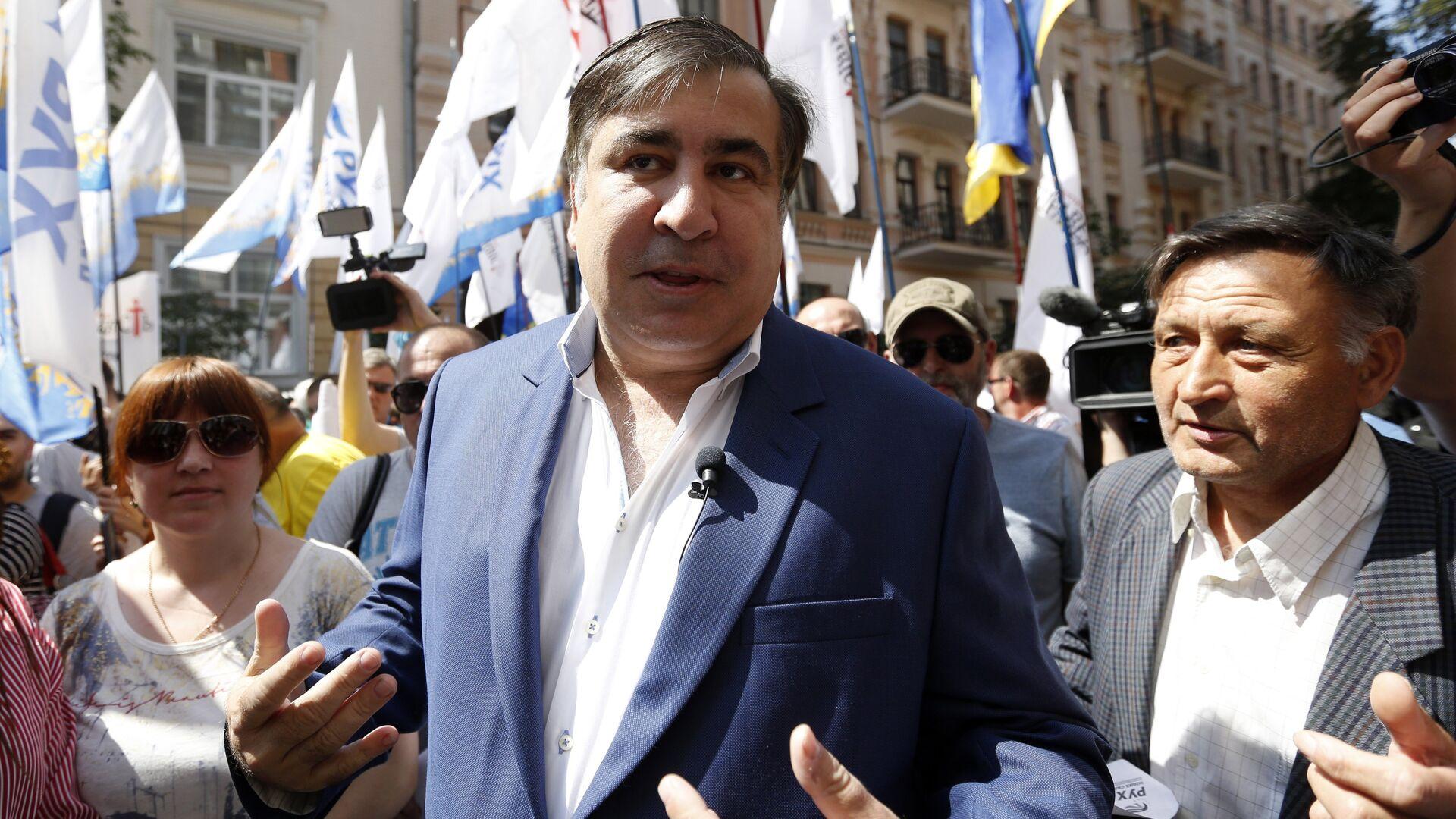 Экс-президент Грузии Михаил Саакашвили - Sputnik Грузия, 1920, 08.10.2021