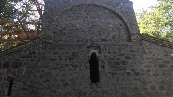 Монастырь Иоанна Крестителя, где обнаружена могила царя Квирике III - Sputnik Грузия