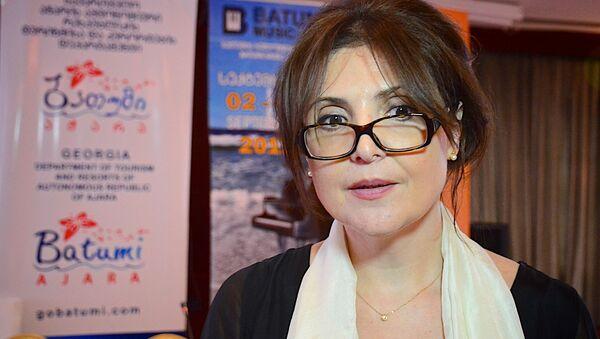 Элисо Болквадзе, основательница фестиваля Batumi Music Fest  - Sputnik Грузия