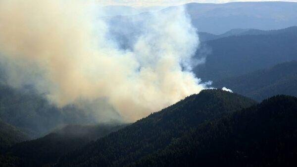 Лесной пожар вблизи курорта Абастумани - Sputnik Грузия