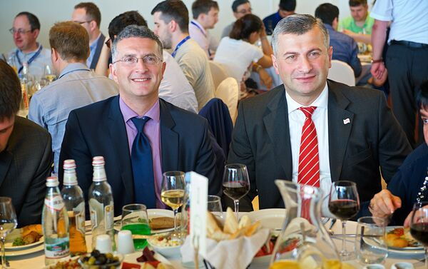 Министр спорта Грузии и гости на открытии шахматного турнира - Sputnik Грузия