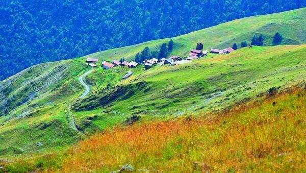 Высокогорное село в Тушети - Sputnik Грузия