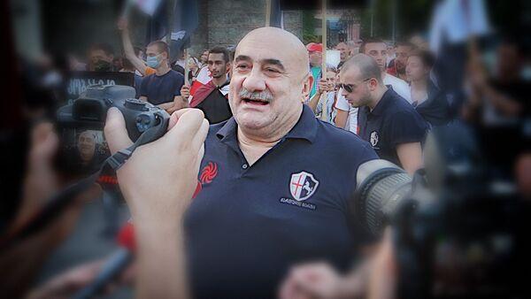 Один из основателей движения марш грузин, известный грузинский певец Гия Коркоташвили - Sputnik Грузия