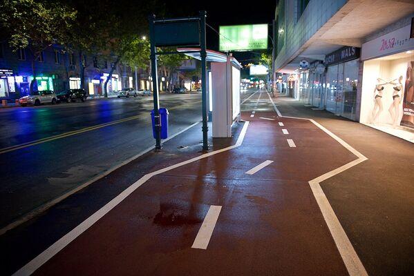 Общая протяженность велодорожки на улице Пекина составляет один километр - Sputnik Грузия