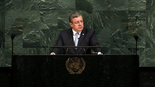 Георгий Квирикашвили на ГА ООН - Sputnik Грузия