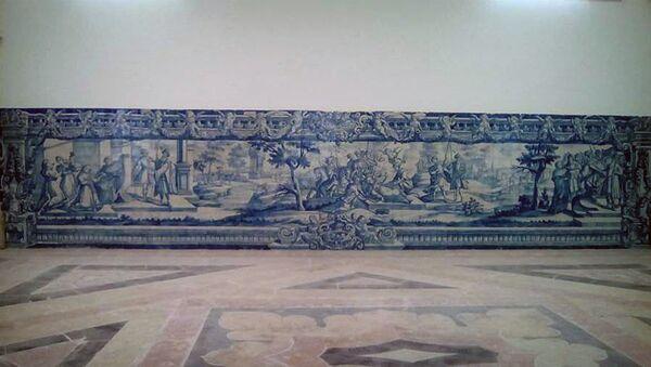 Панно XVIII с изображением царицы Кетеван отреставрировали в Португалии - Sputnik Грузия