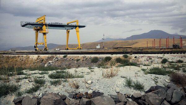 Строительство железной дороги Баку-Тбилиси-Карс - Sputnik Грузия