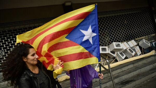 Демонстрация в поддержку независимости Каталонии в Бильбао, Испания - Sputnik Грузия