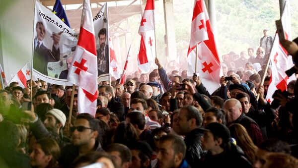 Шествие сторонников ЕНД в грузинской столице - Sputnik Грузия