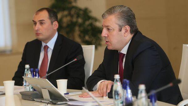 Выступление премьер-министра Грузии Георгия Квирикашвили на заседании правительства - Sputnik Грузия