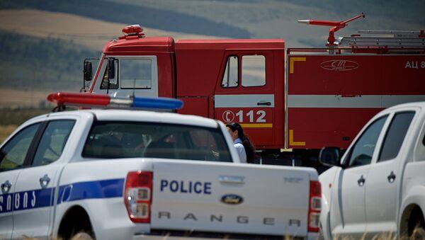 Машины полиции и пожарной службы в регионе Шида Картли - Sputnik Грузия