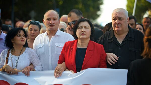 Лидеры Альянса патриотов Грузии возглавляют шествие своих сторонников в грузинской столице - Sputnik Грузия
