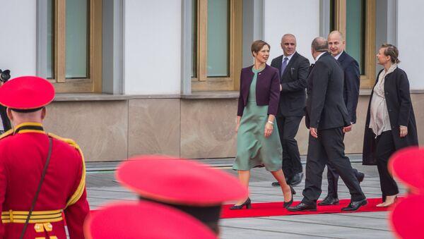 საქართველოს და ესტონეთის პრეზიდენტები გიორგი მარგველაშვილი და კერსტი კალიულაიდი - Sputnik საქართველო