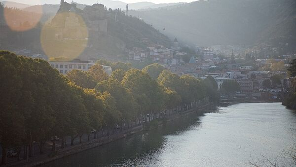 Тбилиси - вид на статую Мать Грузия и на крепость Нарикала - Sputnik Грузия