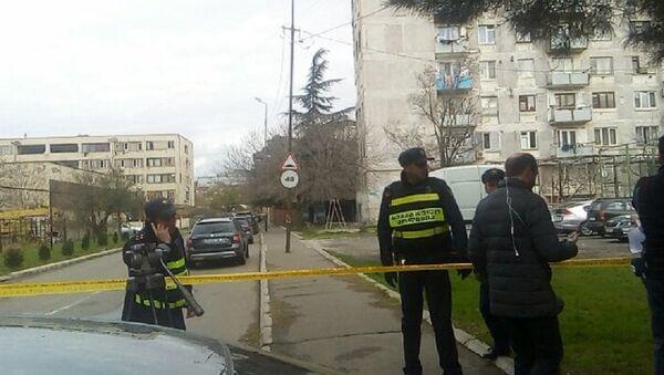 Полиция охраняет периметр спецоперации в Тбилиси - Sputnik Грузия