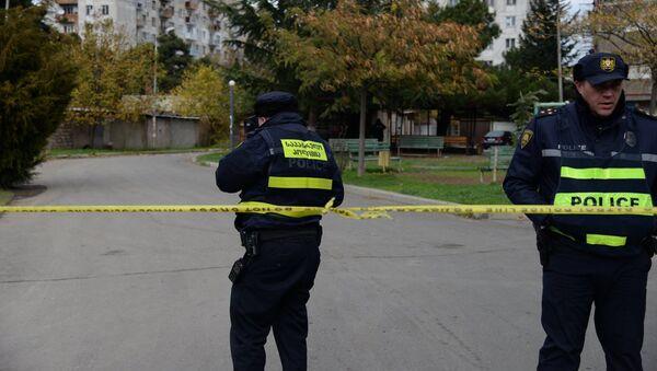 Патрульная полиция на месте спецоперации в Тбилиси - Sputnik Грузия