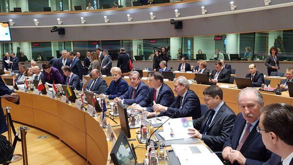 Премьер-министр Грузии Георгий Квирикашвили на саммите в Брюсселе - Sputnik Грузия