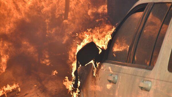 ცეცხლწაკიდებული მანქანა, არქივის ფოტო - Sputnik საქართველო