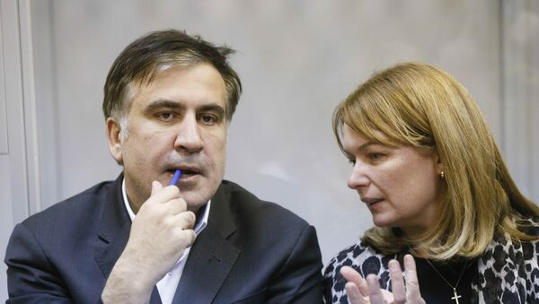 Михаил Саакашвили и Сандра Руловс в Киеве - Sputnik Грузия