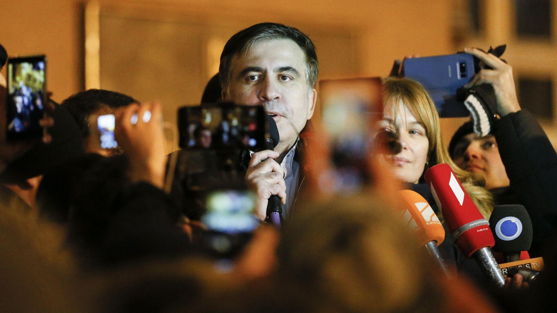 Михаил Саакашвили со своими сторонниками в Киеве - Sputnik Грузия, 1920, 04.10.2021