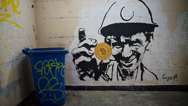 Стрит-арт в тбилисской подземке на тему майнинга и биткоина - Sputnik Грузия