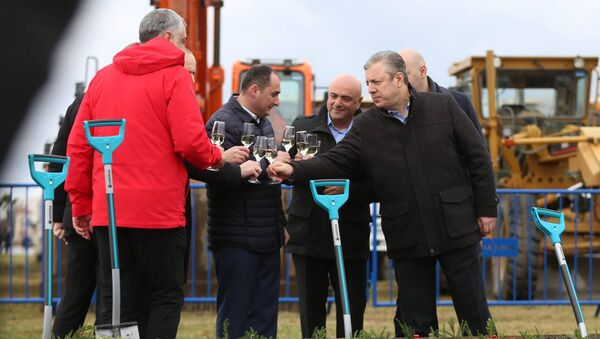 Георгий Квирикашвили на церемонии начала строительства порта Анаклия - Sputnik Грузия