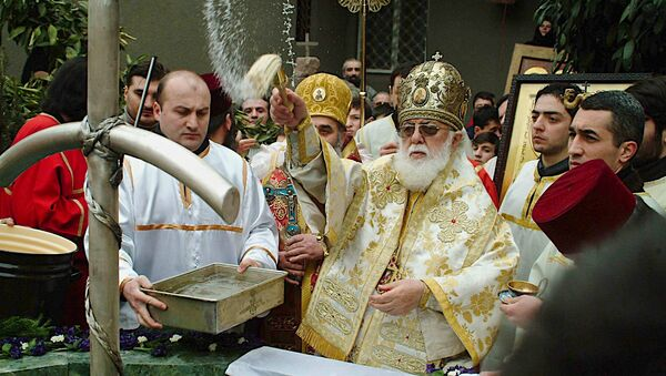 Католикос-Патриарх Всея Грузии Илия Второй, архивное фото - Sputnik Грузия
