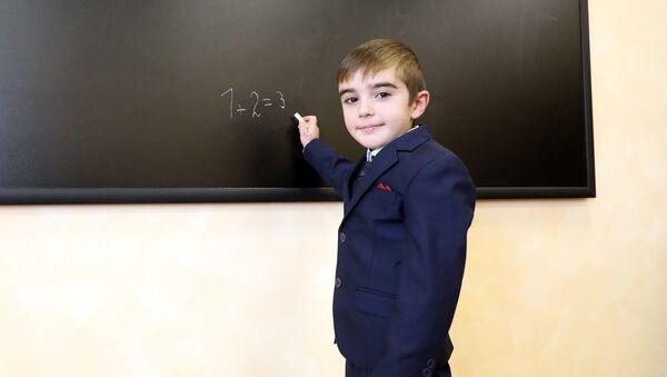Ученик новой армяноязычной школы в Самцхе-Джавахети - Sputnik Грузия