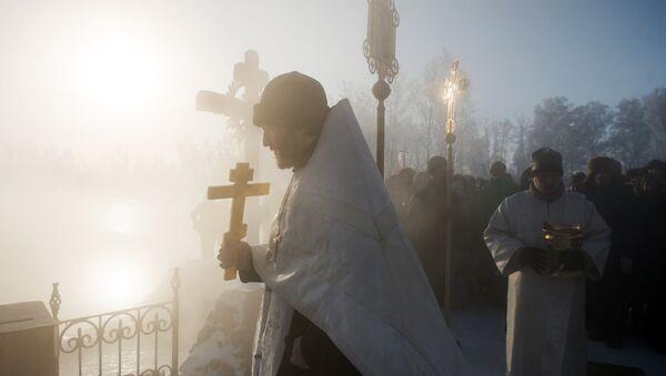 Празднование Крещения в городах России - Sputnik Грузия