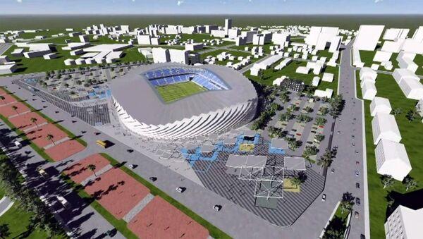 Закладка нового футбольного стадиона - Sputnik Грузия