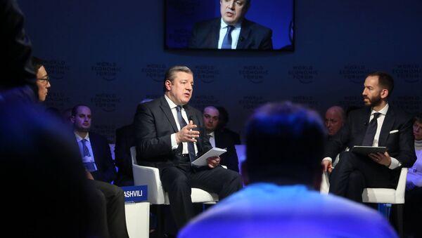 Премьер-министр Грузии Георгий Квирикашвили на Всемирном экономическом форуме в Давосе - Sputnik Грузия