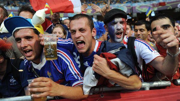 Фанаты сборной Франции на стадионе - Sputnik Грузия