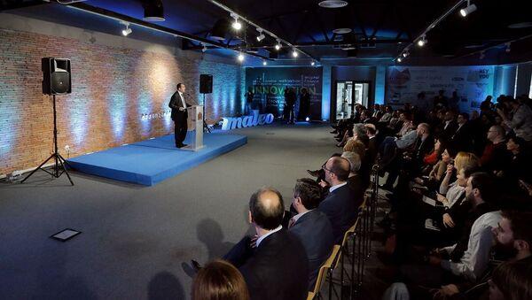 Вице-премьер, министр экономики и устойчивого развития Дмитрий Кумсишвили на презентации портала maleo.ge - Sputnik Грузия