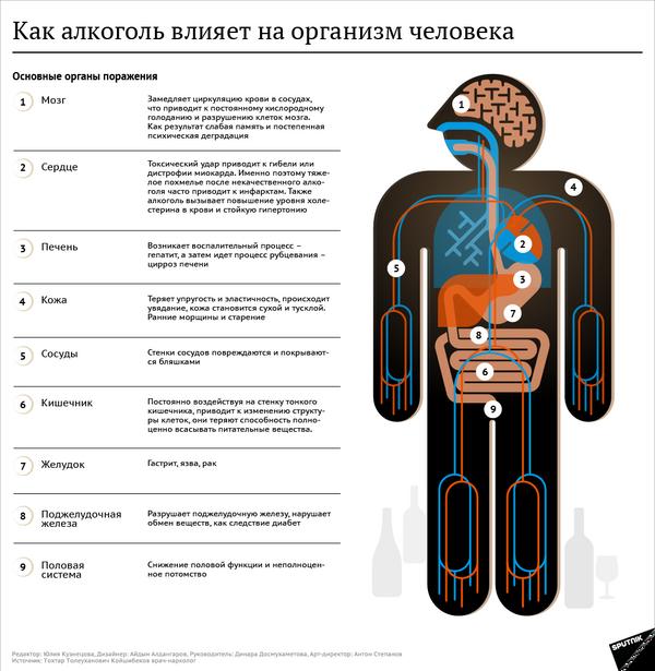 Как алкоголь влияет на организм человека - Sputnik Грузия