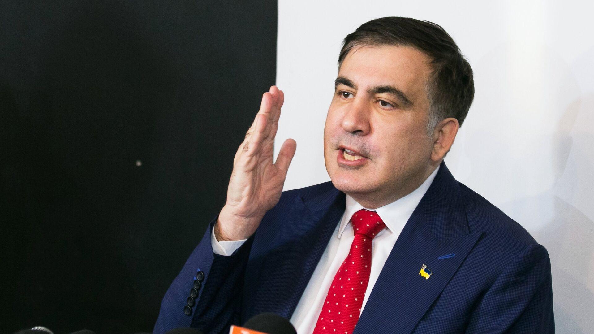 Пресс-конференция Михаила Саакашвили в Варшаве - Sputnik Грузия, 1920, 01.10.2021