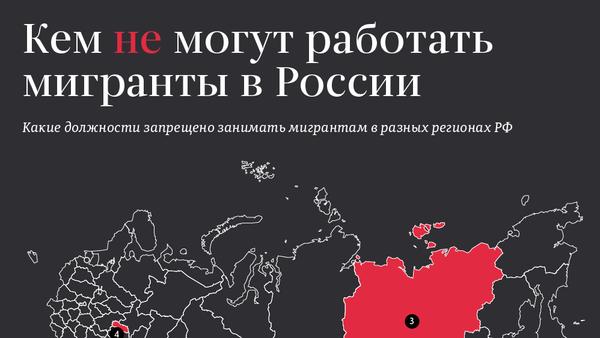Кем не могут работать мигранты в России - Sputnik Грузия
