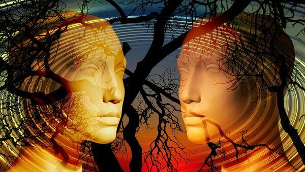 ქალისა და მამაკაცის სილუეტები ხეების ფონზე - Sputnik საქართველო